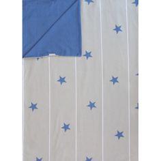 Lorena Canals Kinderbettwäsche Sterne blau/grau
