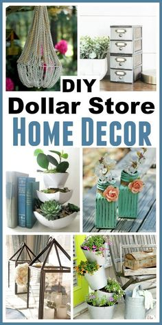 DIY Dollar Store Decorating Ideas - it is possible to have a beautiful on a budget. Check out these brilliant DIY Dollar Store Home Decorating Projects! After all, it doesn't get much cheaper than the dollar store. You won't believe that these beautiful projects started out as dollar store items! | DIY home decorating ideas, decorating on a budget