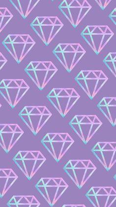 Sac Tutorial and Ideas Diamond Wallpaper, Pink Wallpaper Iphone, Purple Wallpaper, Scenery Wallpaper, Print Wallpaper, Cute Wallpaper Backgrounds, Pretty Wallpapers, New Wallpaper, Galaxy Wallpaper