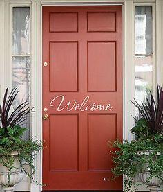 Welcome Front Door Greeting Decal