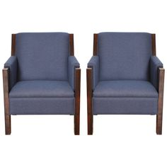 Pair of Art Deco Armchairs | From a unique collection of antique and modern armchairs at https://www.1stdibs.com/furniture/seating/armchairs/