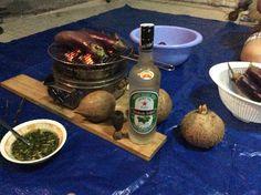 Test ly với rượu dừa bến tre