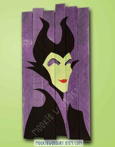 Hey, I found this really awesome Etsy listing at https://www.etsy.com/listing/234411462/maleficent-painted-wood-sign-disney