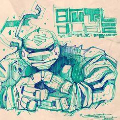 Cyberpunk Character, Graffiti Drawing, Art Drawings Sketches, Sketchbooks, Robots, Cool Art, Concept Art, Anime Art, Sci Fi