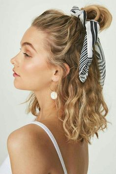 45 Chic Summer Hairstyles with Headscarves hair scarf styles, headband hairstyles, scarf hairstyles, Curly Hair Styles, Hair Scarf Styles, Hair Styles Cool, Hair Headband Styles, Braid Hairband, Curly Hair Headband, Fishtail Ponytail, Headband Scarf, Pearl Headband