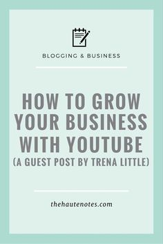 5 simple ways grow your business with YouTube via @thehautenotes