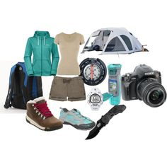 Camping & Hiking Gear, created by mandy-leger.polyvore.com