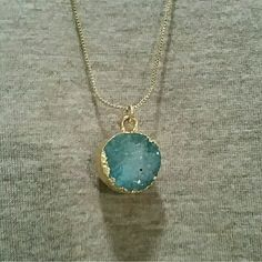 New Lauren Conrad blue long druzy necklace New with tags Lauren Conrad blue druzy necklace on a long gold chain. - willing to negotiate price through offer button - - No trades / No paypal - - bundle discounts - LC Lauren Conrad Jewelry Necklaces
