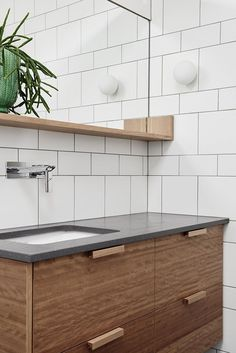 Say Hello To The New Bathroom Tile Trend #refinery29 http://www.refinery29.uk/bathroom-tiles-style#slide-7 Of course, if you're not quite ready to give up your trusty metro just yet, try mixing it up between the two. Create a pattern with square and rectangular white tiles for a less obvious look. ...