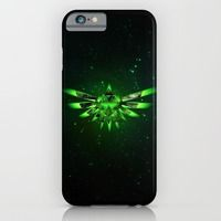 iPhone & iPod Case featuring Zelda Triforce Green Space by alexa