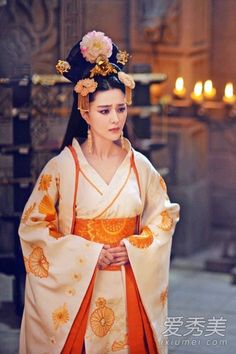 """TV series Empress of China """"Wu Mei Niang legend"""" Fan Bingbing beautiful and outrageous costume Chinese Clothing Traditional, Traditional Fashion, Traditional Dresses, Fan Bingbing, Oriental Fashion, Asian Fashion, Japonese Girl, The Empress Of China, Chinese Actress"""
