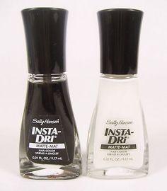 2 Sally Hansen Insta-Dri Nail Color Polish 0.31 Fl Oz #830 #670 - Black &Amp;Amp; White