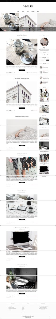 Blogger Template Responsive - Violin by Vefio Themes on @creativemarket