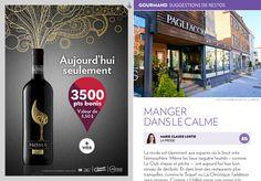 Suggestions de restos : manger danslecalme - La Presse+ Restaurants, Celerie Rave, Red Wine, Alcoholic Drinks, Wine List, The Calm, Places, Eat, Restaurant