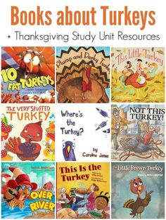 Children's Picture Books about Turkeys -- Plus a FREE Thanksgiving Study Unit!