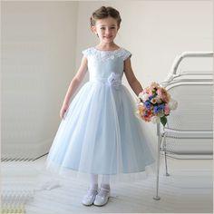 Thalia Flower Girl Dress in Light Blue from Demigella