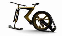 Sno Bike : un joli concept qui fusionne le ski avec le vélo !