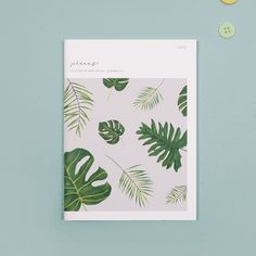 Блокнот с природой, листьями, растениями, пейзажами, горами и т.п.
