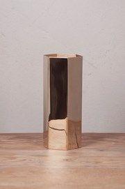 Mr Fredrik - Hexagon Vase Brass High - Inredning