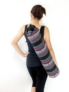 Handmade Yoga Mat Bag Yoga Bag Sports Bags Tote Yoga Sling bag Pilates Bag Pilates Mat Bag Woven Cotton bag (WF15)