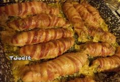 Baconszeletekbe göngyölt töltött csirkemell | NOSALTY Paleo, Keto, Diy Food, Poultry, Ham, Bacon, Sausage, Pork, Food And Drink