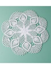 """Crochet Doily Patterns - Pineapple Picot Doily Kit 17"""" round thread and pattern, $15.99 cost"""