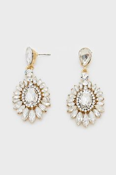 Marquise Anderson Earrings in Crystal Illume