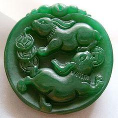 Carved jade.