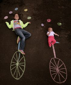 Creative Sidewalk Chalk Photos by The Burgh Baby