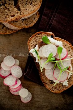 French Breakfast Radish and Sunflower Sprout Tartines   Something New