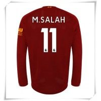 Camisa de Futebol Liverpool Mohamed Salah #11 Equipamento Principal 2019-20 Manga Comprida Mohamed Salah, Premier League, Uefa Champions League, Psg, Football Shirts, Shorts, Real Madrid, Arsenal, Badges
