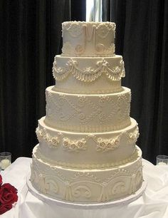 Vintage Wedding Cake - love the detailing!!Maybe not on every layer and only 3 or 4 tiers?