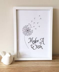 Make a wish Dandelion mandala print A4 wall art print home   Etsy