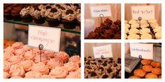 Wedding reception. Cupcake bar.
