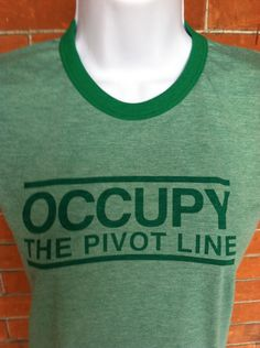 Roller Derby Shirt-Occupy The Pivot Line-Womens S-XL. $18.00, via Etsy.