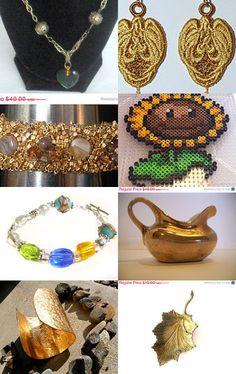 Golden Flaxen Bronzen Goods on Etsy - Pinned with TreasuryPin.com