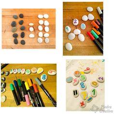 Paso a paso de sumas y restas en piedras Ideas Para, Triangle, Games, Addition And Subtraction, Painted Rocks, Gaming, Plays, Game, Toys