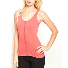 The Muse Tank Hot Coral