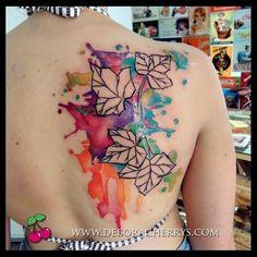deboracherrys #artfactorytattoo #daviniadosanto #watercolor #ink ...