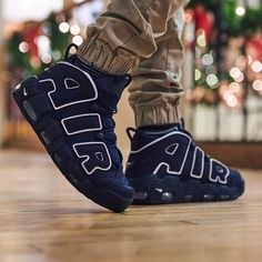 Looking for a holiday gift? Pick up the obsidian Nike Air More Uptempo now! Avai - Sneakers Nike - Ideas of Sneakers Nike - Looking for a holiday gift? Pick up the obsidian Nike Air More Uptempo now! Available in mens and kids sizing. Red Nike Shoes, Nike Shoes Air Force, Pumas Shoes, Shoes Sneakers, Nike Free Shoes, Puma Boots, Nike Air Uptempo, Kawaii Shoes, Jordan Shoes Girls