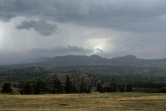 Storm coming over the mountains, heading for the plains and Cheyenne WY