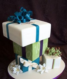 packages By Sugar Creations -love the ribbons