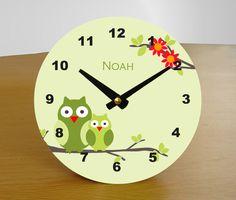 Uhren - Kinderuhr EULENGLÜCK, personalisiert - ein Designerstück von HelgaBerrillDesign bei DaWanda