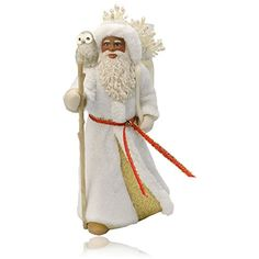 Hallmark QSM7767 African American Father Christmas and Owl Ornament * Click image for more details.