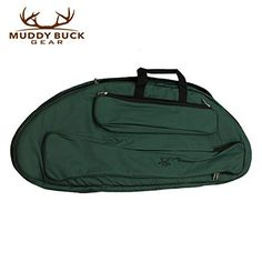 Muddy Buck Gear Compact Compound Bow Case hunter Green 42″ x 16″ 2 exterior pockets, Muddy buck Logo, padded (no interior pockets)  http://outdoorgear.mobi/product/muddy-buck-gear-compact-compound-bow-case-hunter-green/