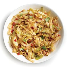 Chile-Garlic Cabbage, Cooking Light, Feb. 2014 issue.