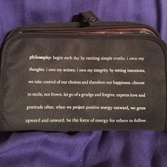Makeup bag Philosophy black makeup bag with detachable bag and zipper pocket. Never used Philosophy Bags Cosmetic Bags & Cases