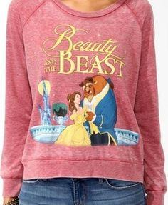 Forever 21 Disney Beauty & the Beast Pullover Sweater Disney Sweatshirts, Disney Shirts, Disney Outfits, Cute Outfits, Disney Fashion, Disney Sweaters, Disney Clothes, Nerd Clothes, Disney Pajamas