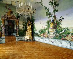 Bergl Room Mural in the Schloss Schonbrunn in Vienna, Austria