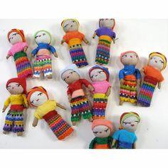 Guatemalan Worry Dolls - Set of 12